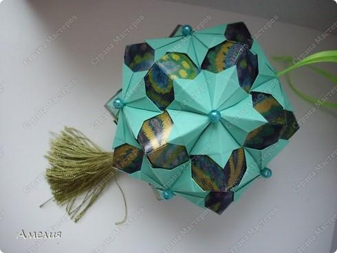 "Еще один МК на кусудаму из книги Томоко Фусе ""floral globe"" фото 1"