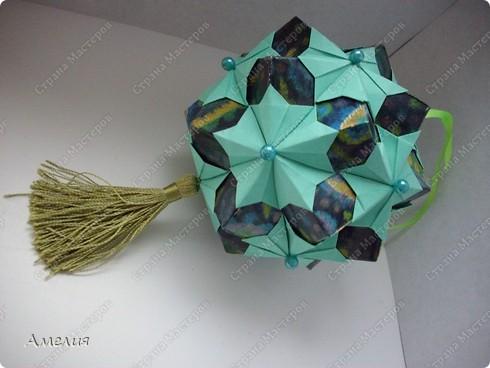 "Еще один МК на кусудаму из книги Томоко Фусе ""floral globe"" фото 2"