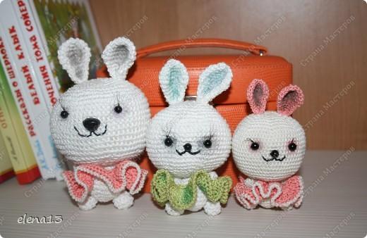 Начинаем с внучкой готовить новогодние подарки. Начали с зайцев-кроликов: грустные пушистики... фото 2