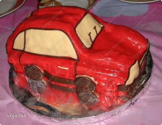 "Торт ""Машина"" на трёхлетие сына фото 1"