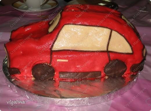 "Торт ""Машина"" на трёхлетие сына фото 2"