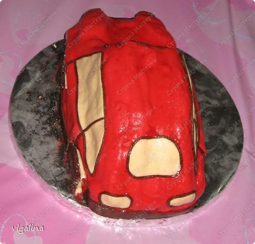 "Торт ""Машина"" на трёхлетие сына фото 3"