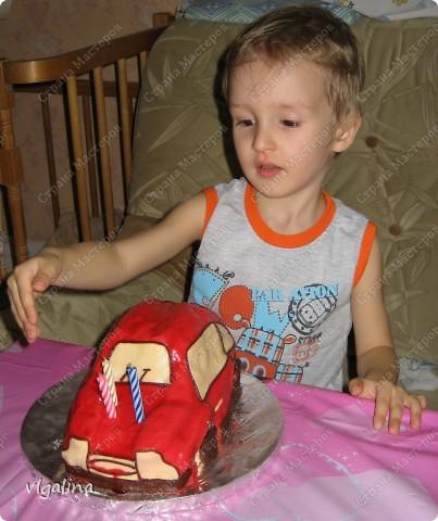 "Торт ""Машина"" на трёхлетие сына фото 4"