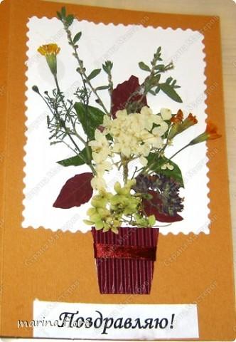 К международному дню матери с первоклассниками сделали подарок для мам средствами флористики - открытку с букетиком цветов.  фото 1