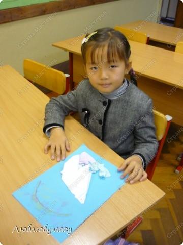 Картина панно рисунок Поделка изделие Раннее развитие Оригами Белый медведь Бумага фото 4
