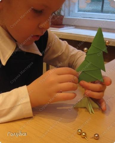 Сегодня на занятие с первоклассниками мы тоже начали подготовку к Новому году и узнали об одной интересной технике -модульное оригами. фото 7