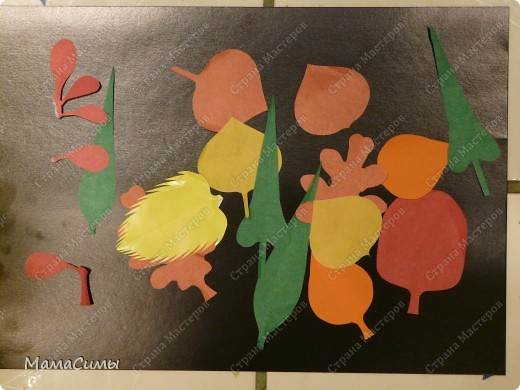 """""""Листья"""" из цветной бумаги. фото 1"""