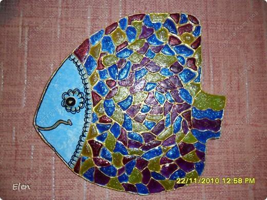 рыбка из гипса +соленое тесто фото 2