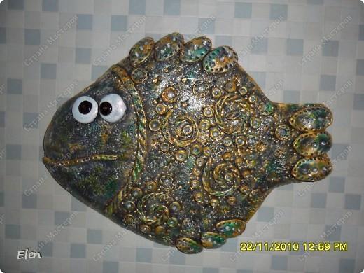рыбка из гипса +соленое тесто фото 1