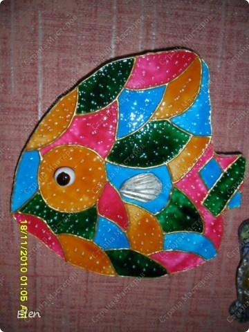 рыбка из гипса +соленое тесто фото 3