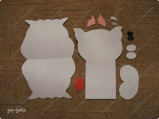 Грядет год кота, и вот такая придумалась открытка. Решила сделать МК. Делаю первый раз - прошу снисхождения.   фото 8