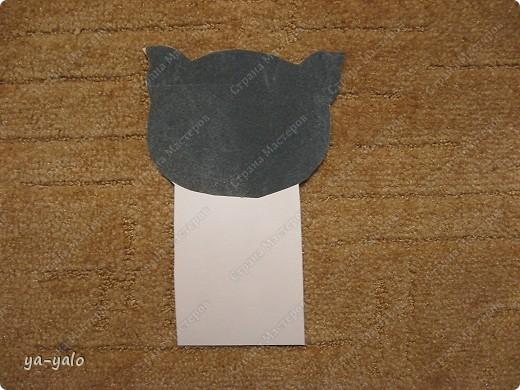 Грядет год кота, и вот такая придумалась открытка. Решила сделать МК. Делаю первый раз - прошу снисхождения.   фото 10