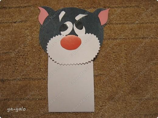 Грядет год кота, и вот такая придумалась открытка. Решила сделать МК. Делаю первый раз - прошу снисхождения.   фото 11
