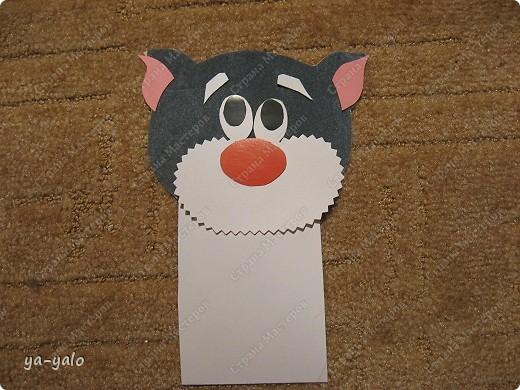 Грядет год кота, и вот такая придумалась открытка. Решила сделать МК. Делаю первый раз - прошу снисхождения.   фото 12