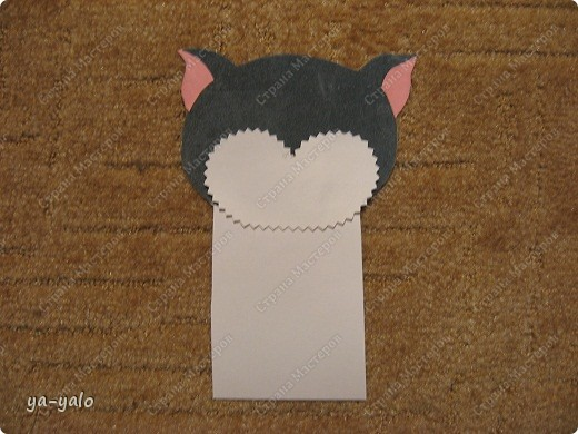 Грядет год кота, и вот такая придумалась открытка. Решила сделать МК. Делаю первый раз - прошу снисхождения.   фото 13