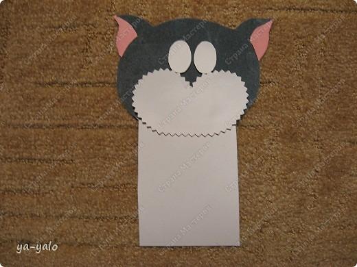 Грядет год кота, и вот такая придумалась открытка. Решила сделать МК. Делаю первый раз - прошу снисхождения.   фото 14