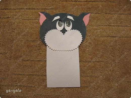 Грядет год кота, и вот такая придумалась открытка. Решила сделать МК. Делаю первый раз - прошу снисхождения.   фото 15