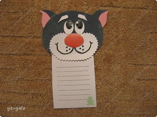 Грядет год кота, и вот такая придумалась открытка. Решила сделать МК. Делаю первый раз - прошу снисхождения.   фото 16