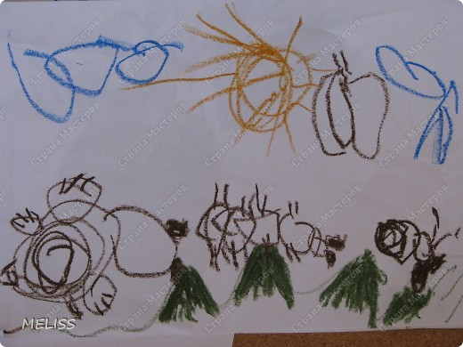 все прорисовки маркером делала мама,всё остальное я делала сама повторяя за мамой  как я их делала,делала большую капельку в ладошках,затем скалкой раскатывала и получился листик,кусочком картона делаем прожилки,затем на листик ставила шарик из фольги и с двух сторон  колбаски (это ножки и усики), шарик накрывала лепёшкой из теста(так чтобы ножки и усики торчали),на неё ещё две лепешки(крылышки)и мордочку(тоже лепёшка) ну а теперь деталька(глазки,точечки) фото 14