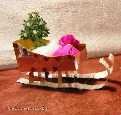 Мастер-класс Поделка изделие Раннее развитие Новый год Бумагопластика Сани для Деда Мороза Картон фото 10