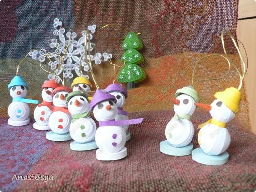 Новогоднее собрание снеговиков фото 1