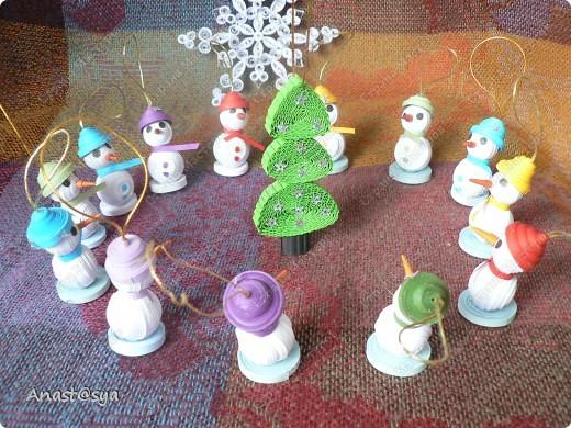 Новогоднее собрание снеговиков фото 2