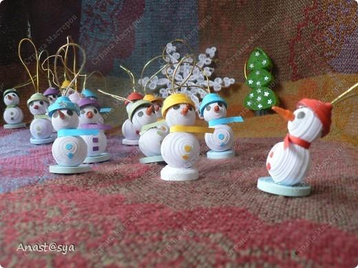 Новогоднее собрание снеговиков фото 3