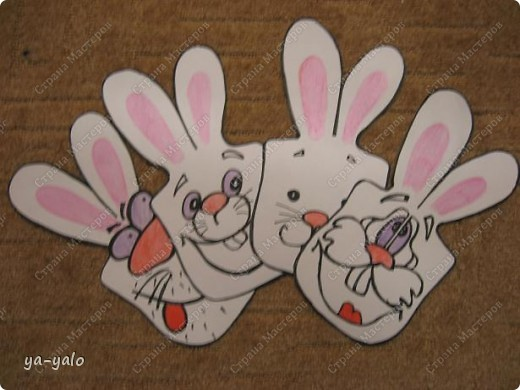 """Дорогие мастерицы! Огромное спасибо вам за многочисленные отклики на МК """"КОТ В МЕШКЕ"""" http://stranamasterov.ru/node/115412.  Ваши теплые слова не пропали даром - вот придумалась еще одна (В нескольких экземплярах) открытка. Теперь главный герой - кролик. И не просто кролик, а в шляпе фокусника фото 21"""