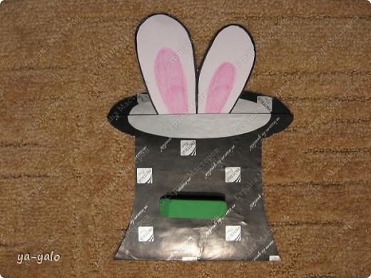 """Дорогие мастерицы! Огромное спасибо вам за многочисленные отклики на МК """"КОТ В МЕШКЕ"""" http://stranamasterov.ru/node/115412.  Ваши теплые слова не пропали даром - вот придумалась еще одна (В нескольких экземплярах) открытка. Теперь главный герой - кролик. И не просто кролик, а в шляпе фокусника фото 33"""