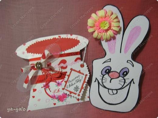 """Дорогие мастерицы! Огромное спасибо вам за многочисленные отклики на МК """"КОТ В МЕШКЕ"""" http://stranamasterov.ru/node/115412.  Ваши теплые слова не пропали даром - вот придумалась еще одна (В нескольких экземплярах) открытка. Теперь главный герой - кролик. И не просто кролик, а в шляпе фокусника фото 4"""