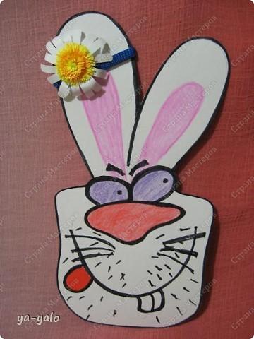 """Дорогие мастерицы! Огромное спасибо вам за многочисленные отклики на МК """"КОТ В МЕШКЕ"""" https://stranamasterov.ru/node/115412.  Ваши теплые слова не пропали даром - вот придумалась еще одна (В нескольких экземплярах) открытка. Теперь главный герой - кролик. И не просто кролик, а в шляпе фокусника фото 14"""