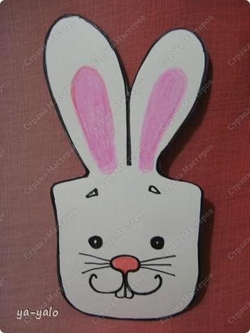 """Дорогие мастерицы! Огромное спасибо вам за многочисленные отклики на МК """"КОТ В МЕШКЕ"""" https://stranamasterov.ru/node/115412.  Ваши теплые слова не пропали даром - вот придумалась еще одна (В нескольких экземплярах) открытка. Теперь главный герой - кролик. И не просто кролик, а в шляпе фокусника фото 17"""