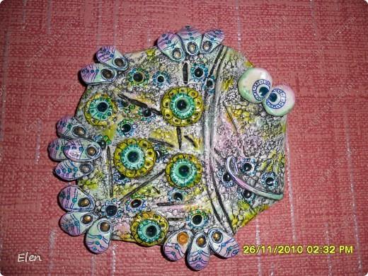 гипсовая рыбка роспись акриловыми красками+витражные контуры фото 4