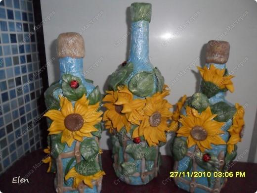бутылочки с подсолнухами фото 1