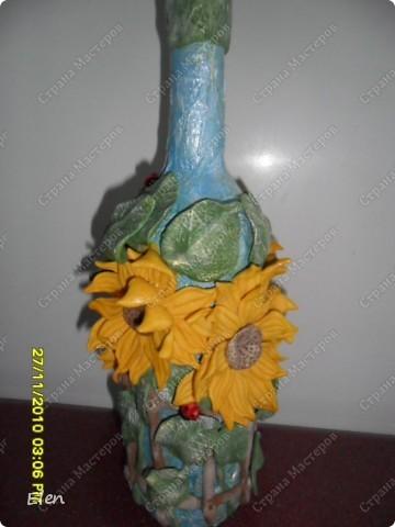 бутылочки с подсолнухами фото 2