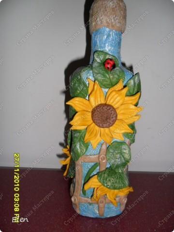 бутылочки с подсолнухами фото 4