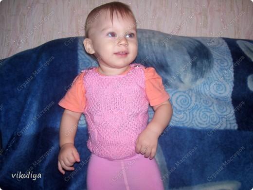 Связала жилеточку для дочки, очень понравился узор. А вам? фото 1