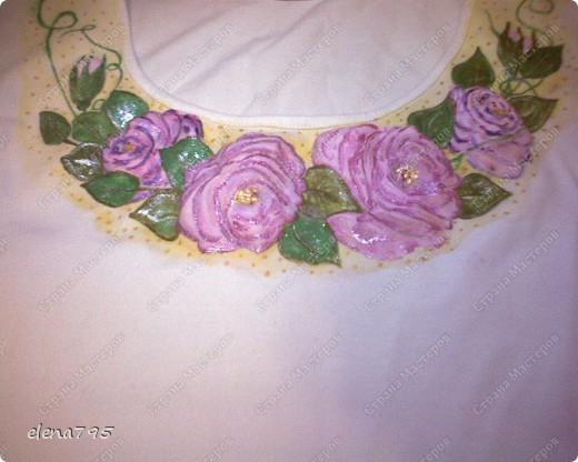 Мои первые розы на трикотаже  фото 1