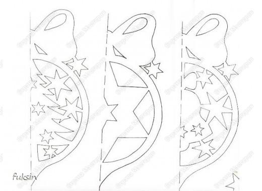 Новый год Вырезание Новогодние вырезалки + трафарет Бумага фото 5