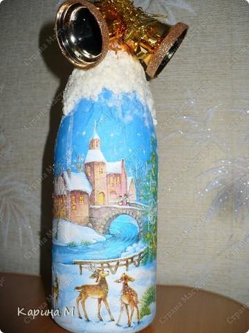 Второй раз украшаю бутылочки к НГ)) фото 2