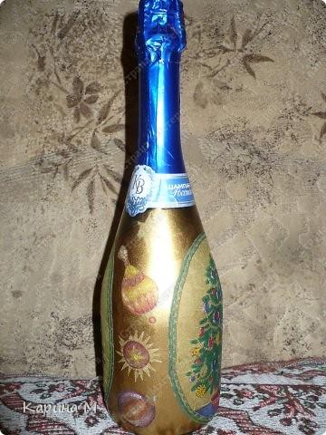 Второй раз украшаю бутылочки к НГ)) фото 6