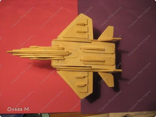 Этот самолёт так же как и павлин собран из готового набора для моделирования ... Собирала дочка со мной... фото 4