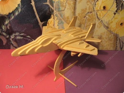 Этот самолёт так же как и павлин собран из готового набора для моделирования ... Собирала дочка со мной... фото 2