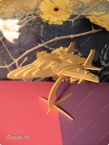 Этот самолёт так же как и павлин собран из готового набора для моделирования ... Собирала дочка со мной... фото 1