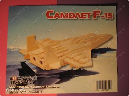 Этот самолёт так же как и павлин собран из готового набора для моделирования ... Собирала дочка со мной... фото 5