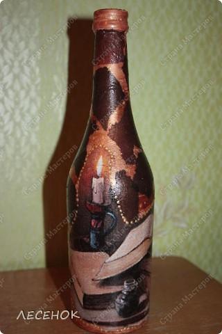 Подарки мужчинам на дни рождения....конечно крепкие напитки... Оформила в таком стиле. Очень всем понравилось и открыть так ни кто и не решился.... фото 8