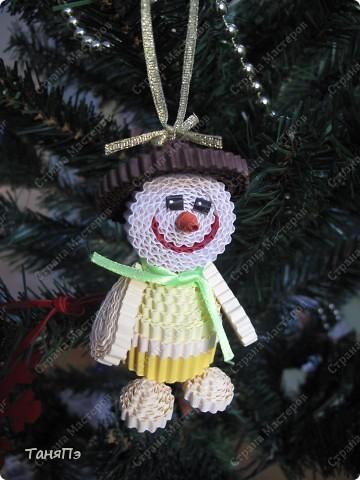 """Новогодняя игрушка """"Снеговик"""" фото 2"""