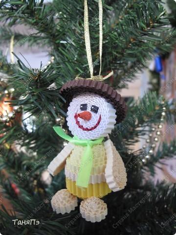 """Новогодняя игрушка """"Снеговик"""" фото 1"""