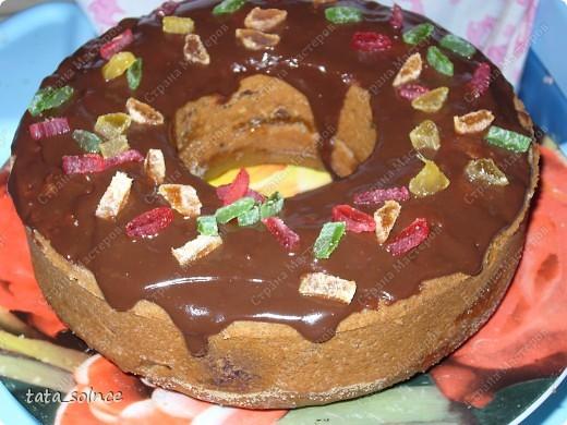 Кекс с цукатами и шоколадом  фото 1