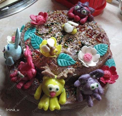 Дочка очень любит смешариков. Вот такой торт получился на день рождение. фото 1